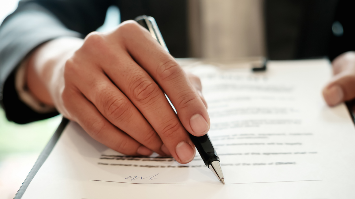 Person signing a document - Legislation